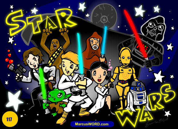 star wars cartoon drawing illustration